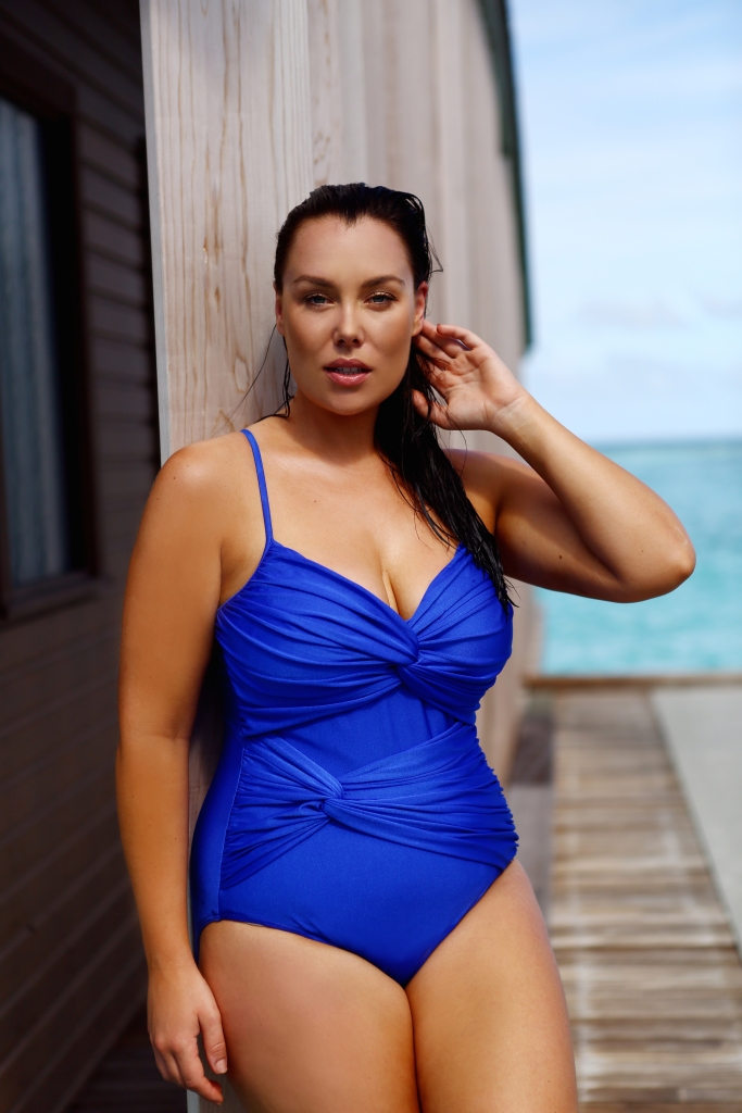 Capriosca.Swimwear-Margaret Capriosca Crossover Electric Blue
