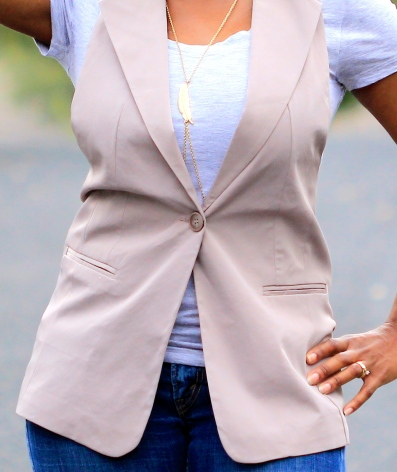 Taupe It Back Vest