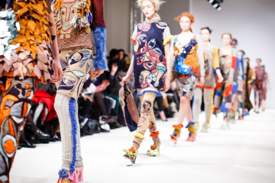 picture of girls walking down a fashion runway