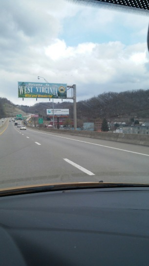West Virginia Welcome Highway Sign