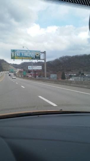 West Virginia Welcome Highway Sign