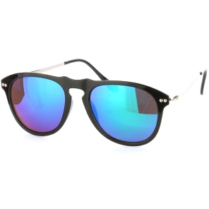 pic of black framed sunglasses with reflective lenses