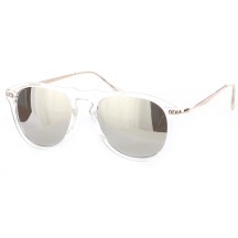 Clear frame sunglasses with reflective lenses - blue labels boutique