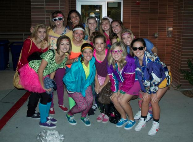 pic of women wearing neon
