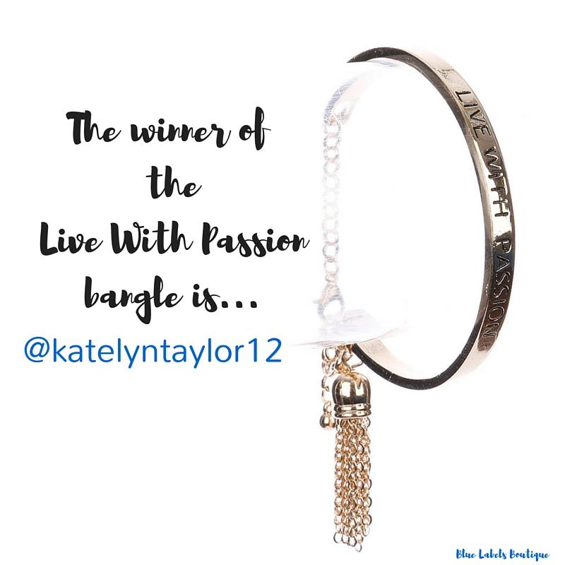 live with passion bracelet blue labels boutique giveaway