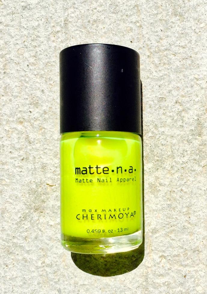 neon yellow nail polish blue labels boutique