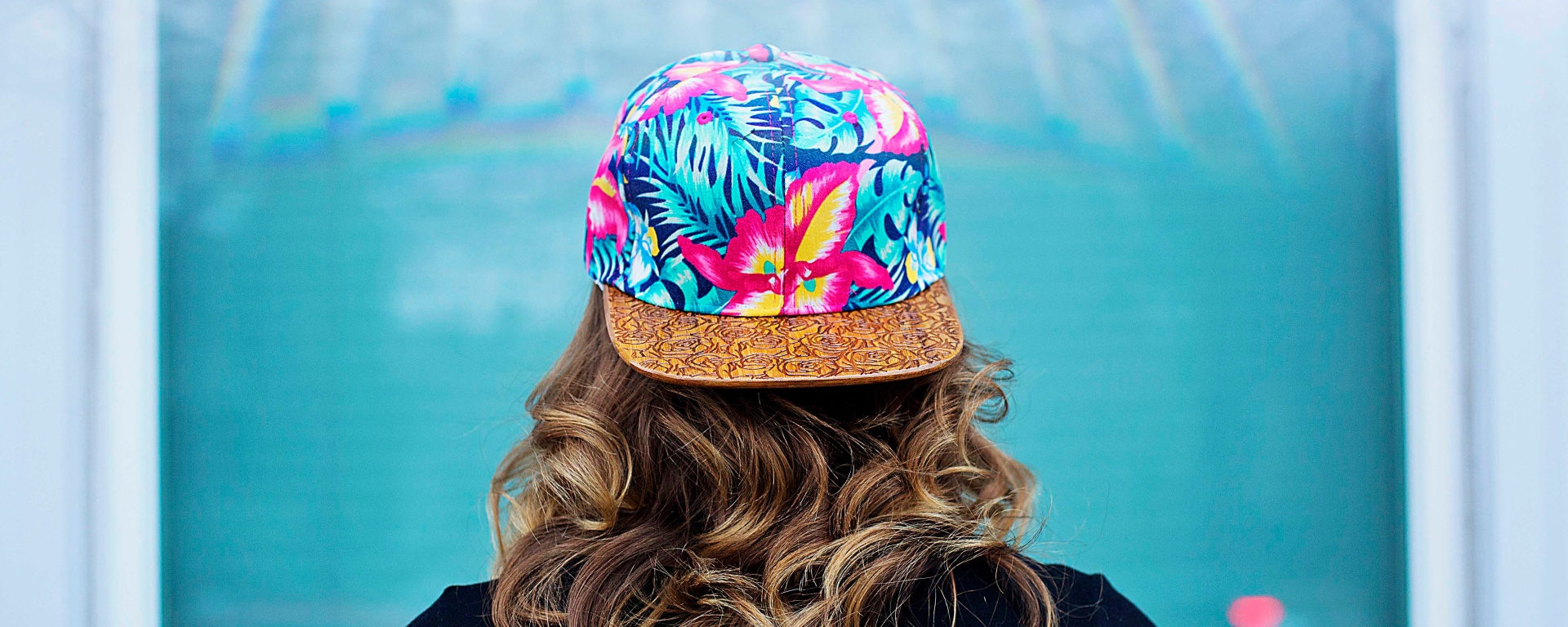 pic of neon printed hat