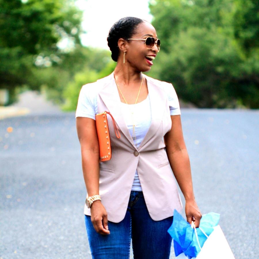 taupe one button vest blue labels boutique