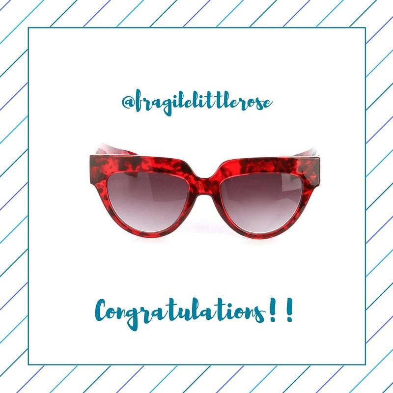 winner of cat woman 3.0 sunglasses