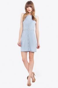 Baby Blue Suede Dress Blue Labels Boutique