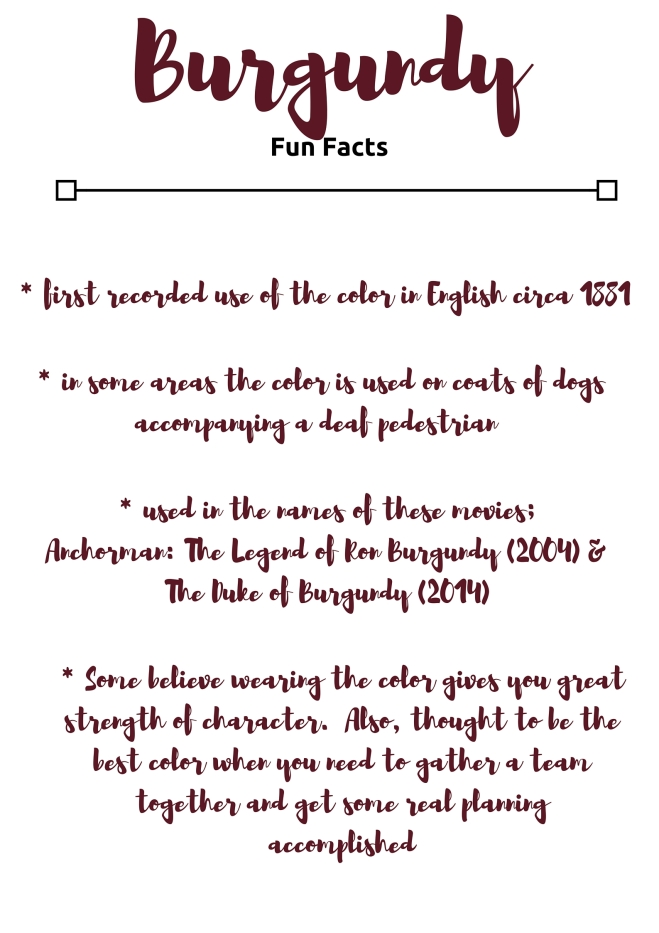 fun facts about the color burgundy