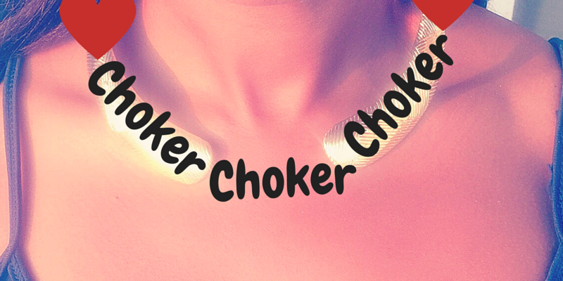 pic of choker and hearts fashion not fear