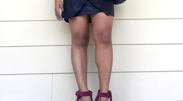 faux leather wrap skirt blue labels boutique