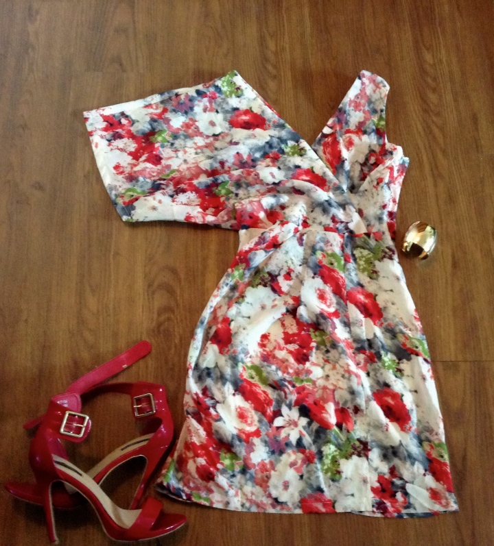 red floral printed dress blue labels boutique