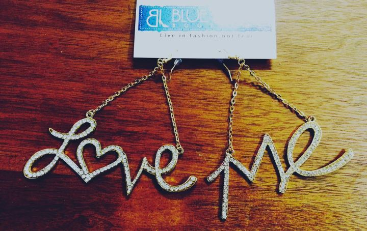 Love Me Earrings Blue Labels Boutique