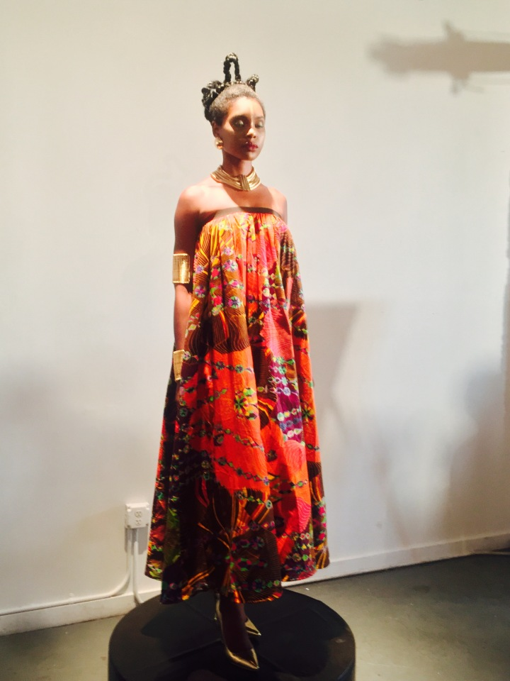 model wearing african attire at Irun Kiko: The Art Of Hair