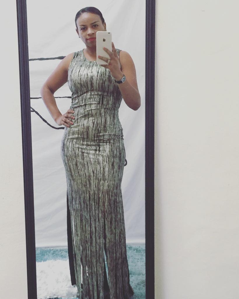 gold and black fringe dress blue labels boutique