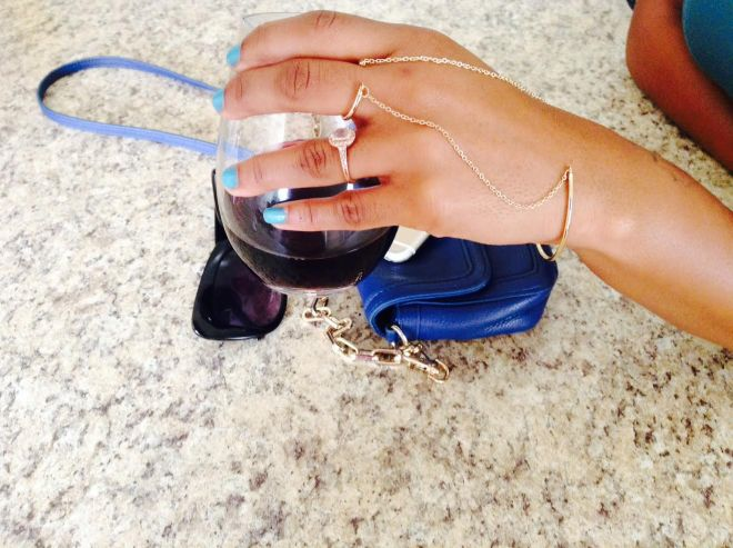 gold ring and bracelet accessory blue labels boutique