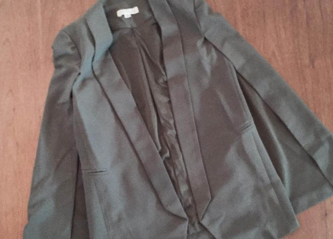 olive green cape blazer
