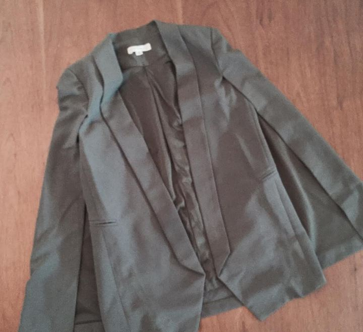 olive green cape blazer
