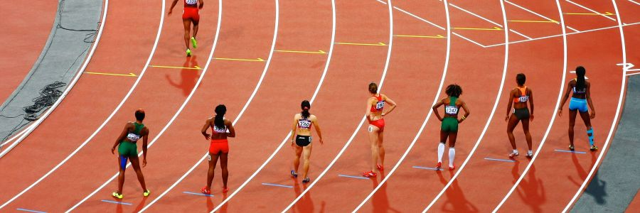 pic of ladies running on track