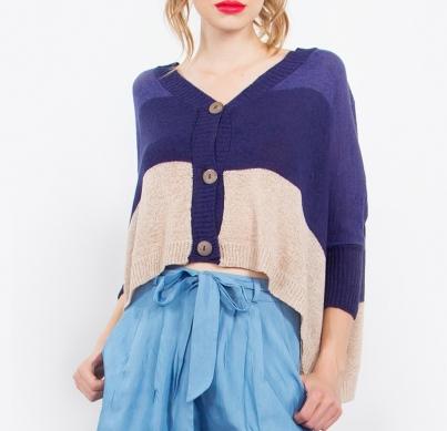blueandtancolorblocksweater