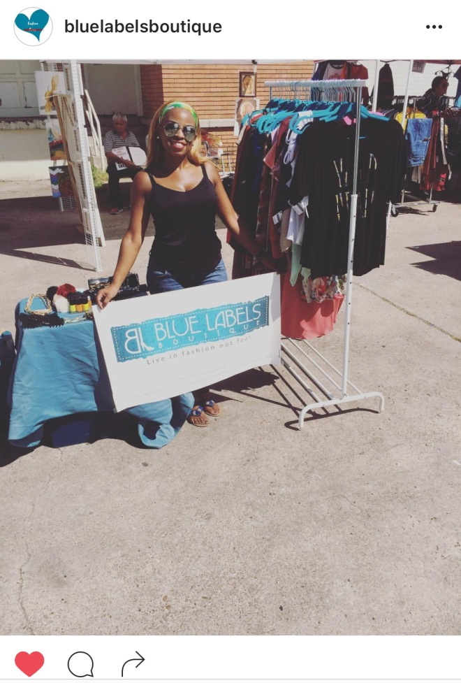blue labels boutique at houston mural vendor event
