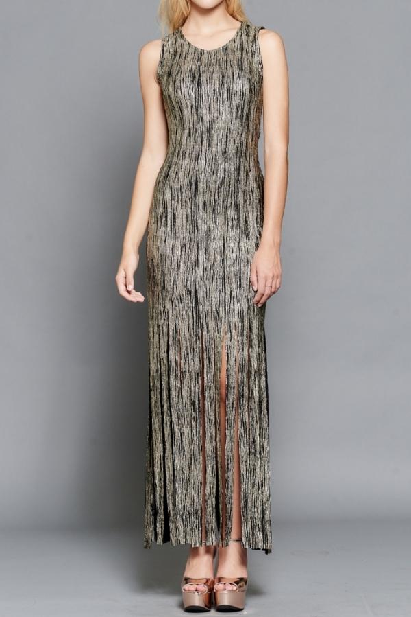 gold-black-fringe-bottom-dress-fullfront