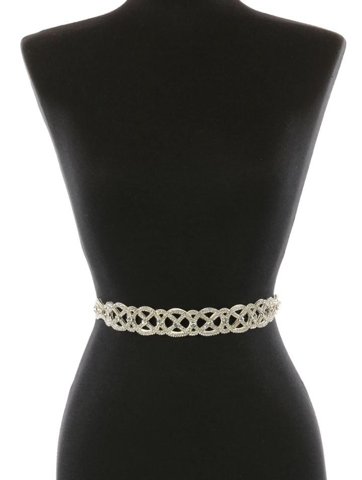 interlocked silver belt blue labels boutique