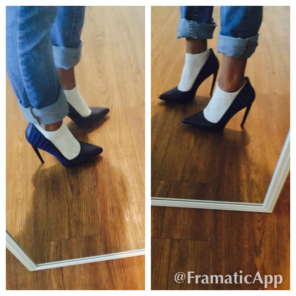 wearing white socks with pumps