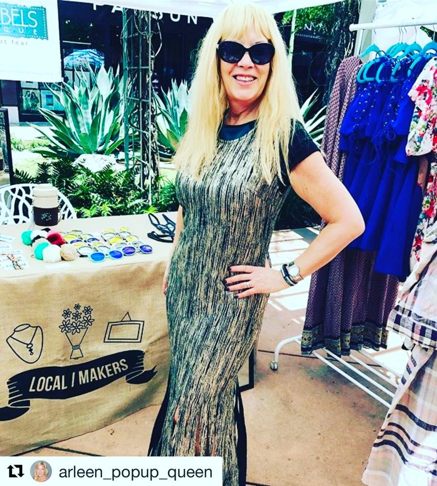 pic of glam fringe dress blue labels boutique