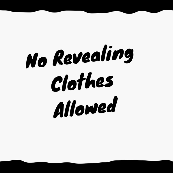norevealingclothessign