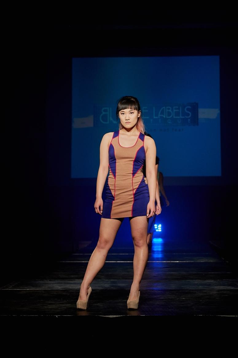 colrblock womens tank dress blue labels boutique