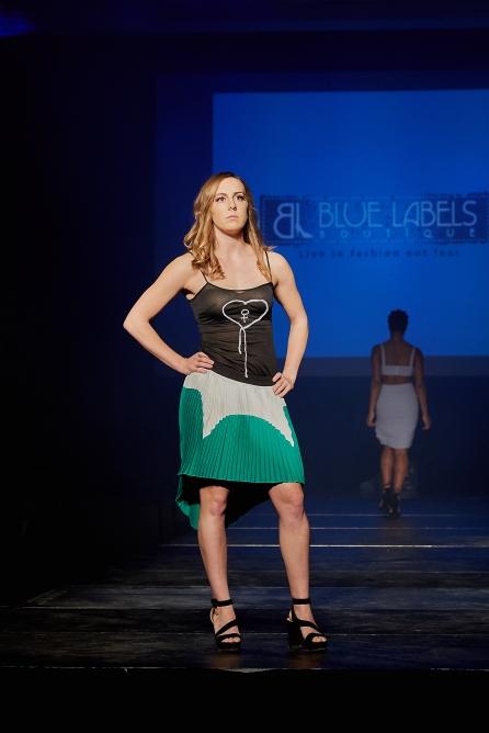 Heart Females D.I.Y Top X Colorblocked SkirtModel: Katie Liston
