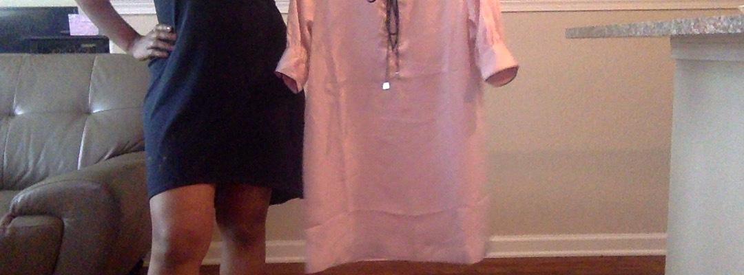 pink satin pj inspired shift dress