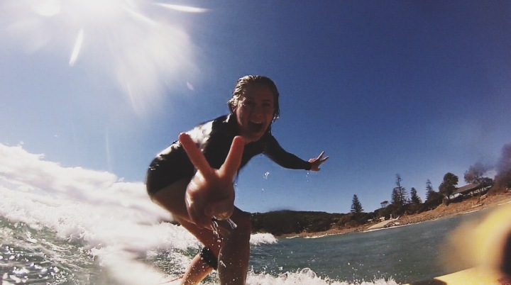 Hayley Carr surfing fearless woman