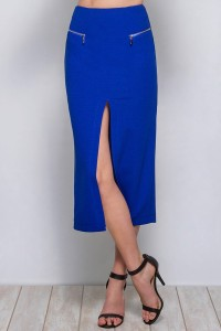 royalblueskirtwithzippers-stockpic