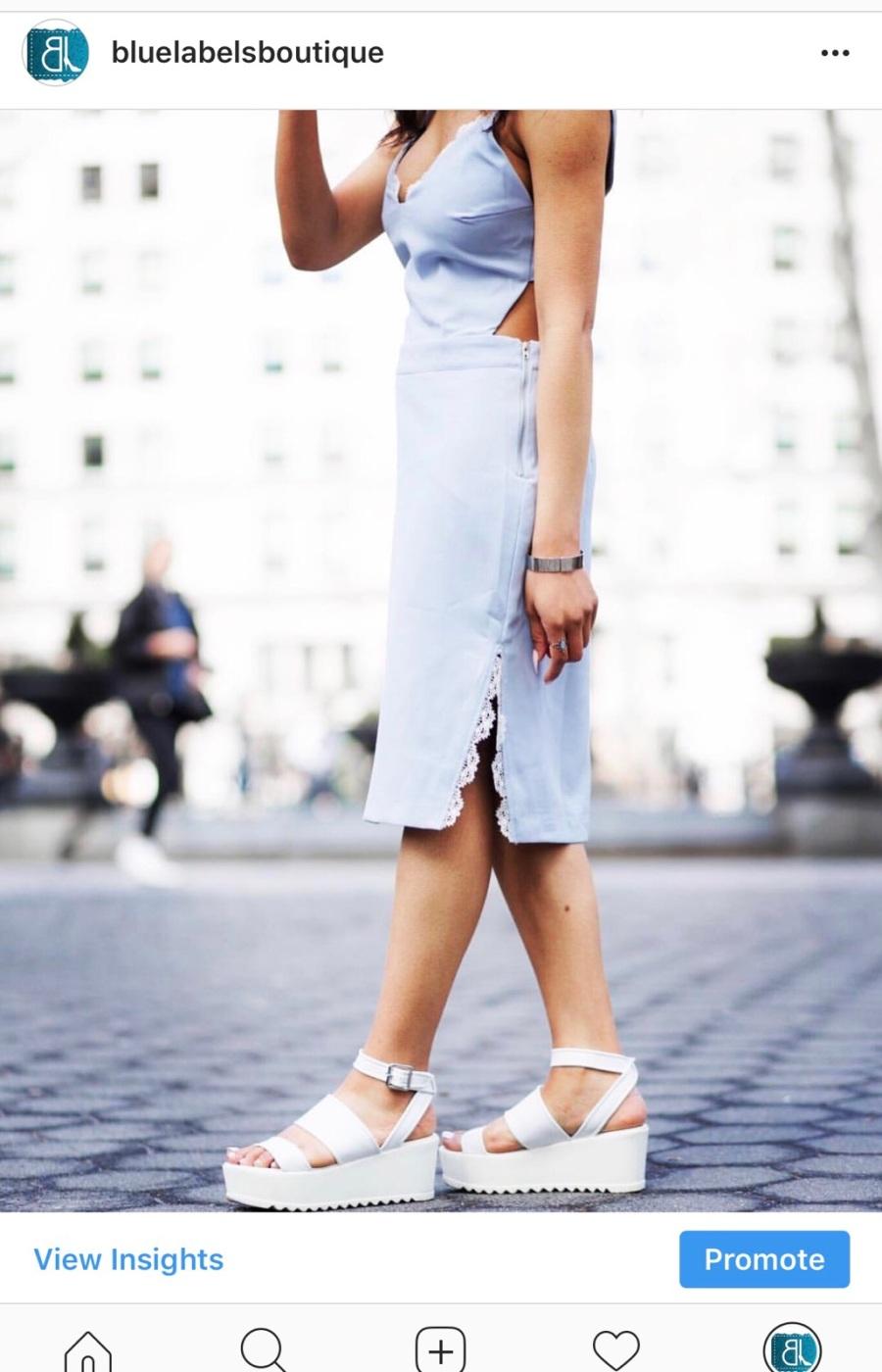 light blue dress with lace blue labels boutique