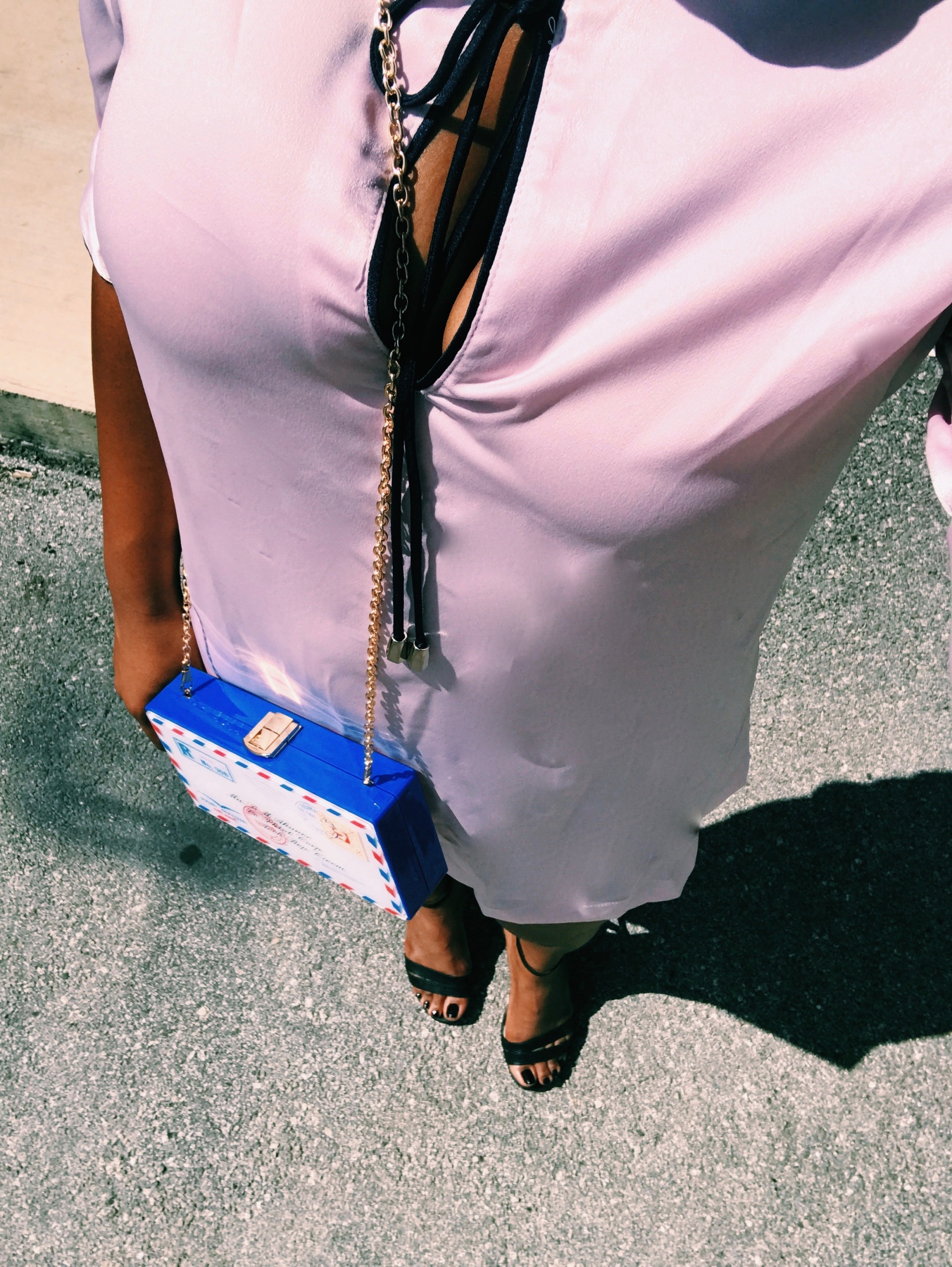 pink satin shift dress blue labels boutique