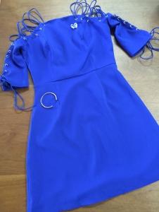 blue short sleeve womens dress blue labels boutique