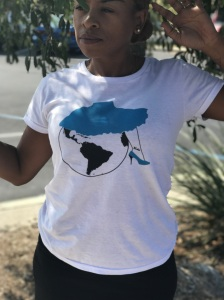 fearless ladies taking over the world t-shirt blue labels boutique