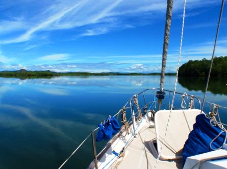 Jackie Parry sailing