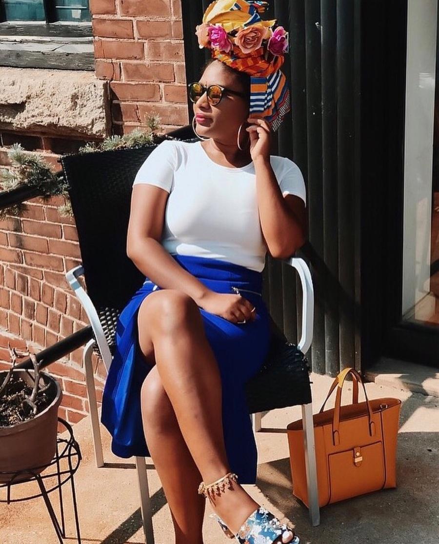 tiny hipster in blue split front blue labels boutique skirt