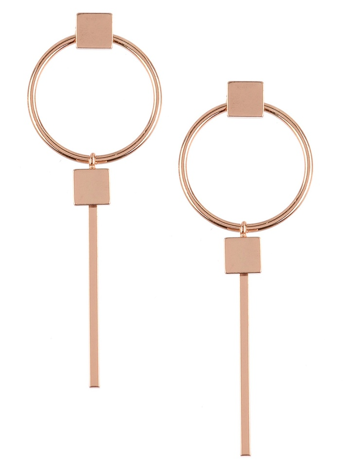 circlewithlinedangleearringsrosegold