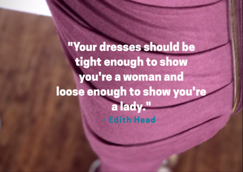 dress quote by edith head