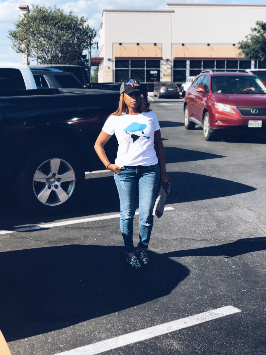fearless woman tee blue labels boutique