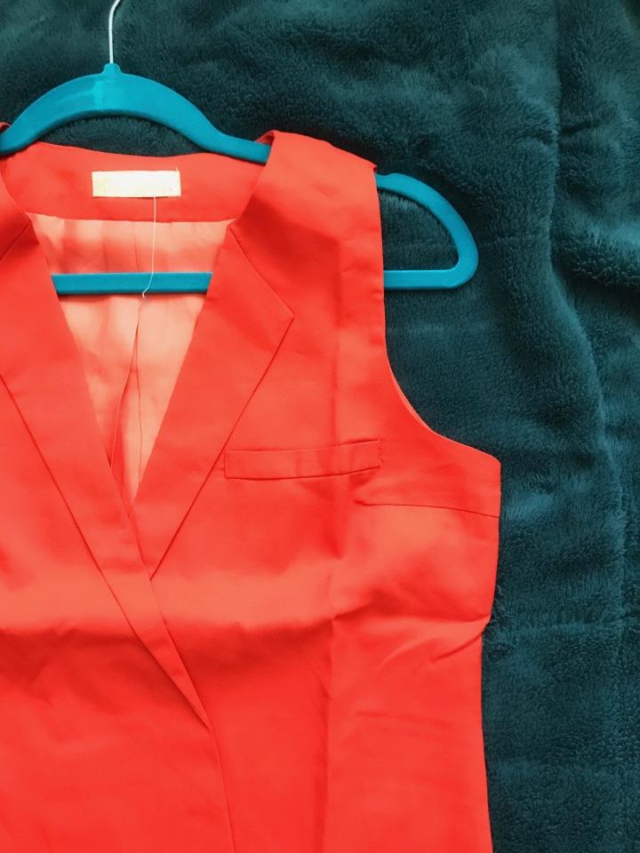 orange vest dress top dress boutique