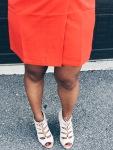 orange vest dress