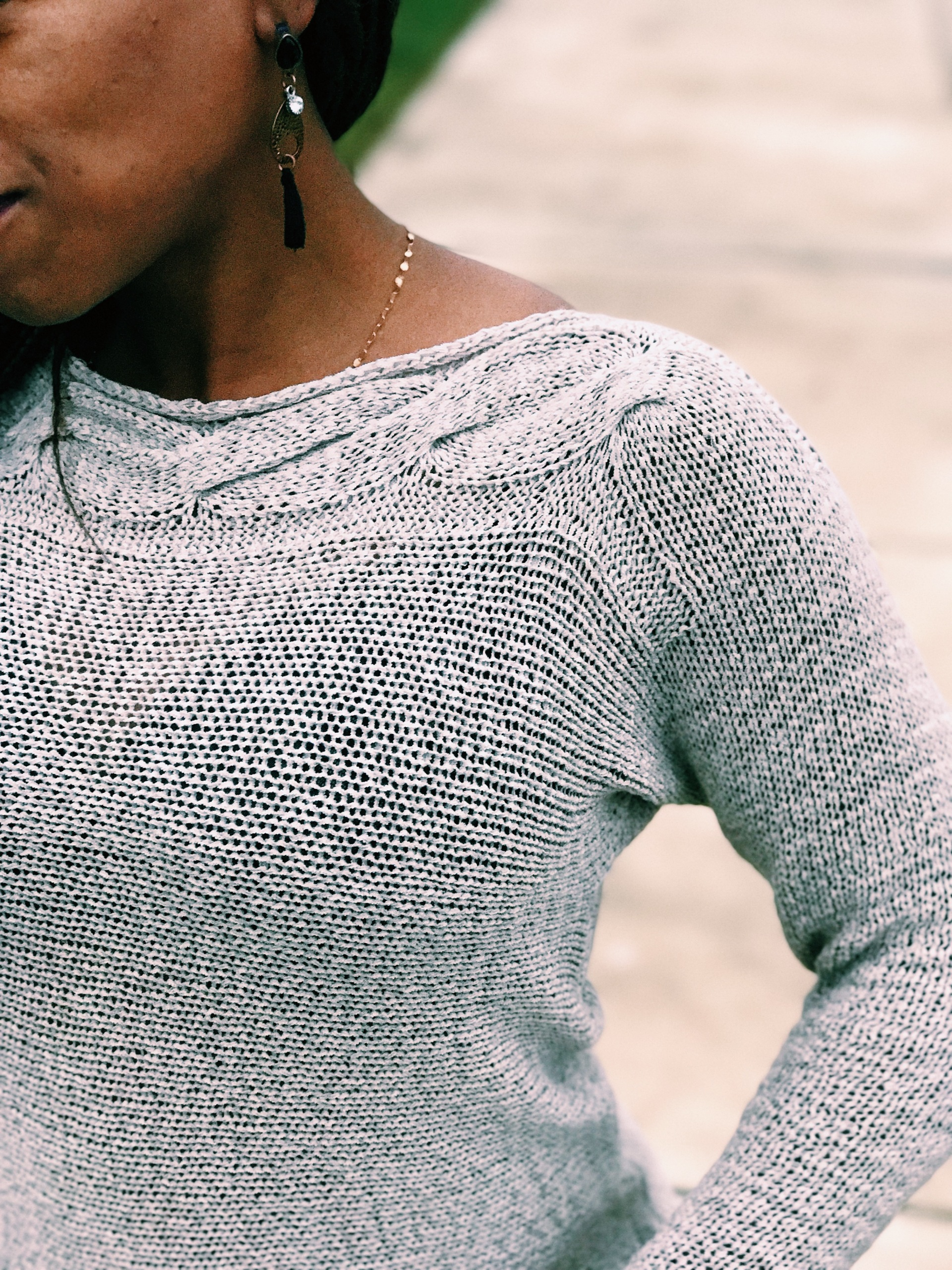 top of womens beige sweater