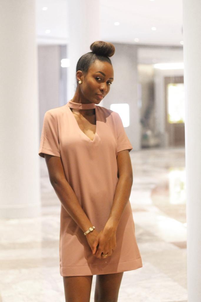 Image of Pink keyhole dress